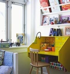 espacio para libros y chucherias